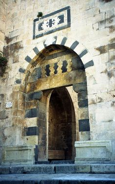 Entry to Aleppo Citadel Keep, Syria