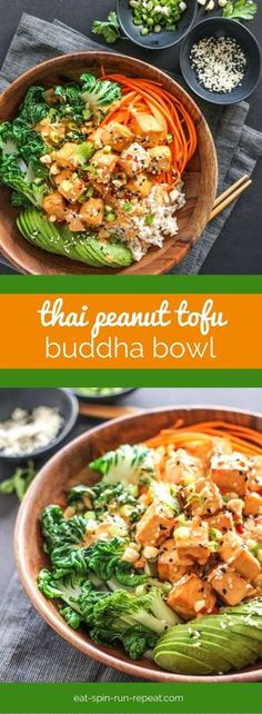 Thai Peanut Tofu Buddha Bowl: This vegan-friendly bowl is full of nutrition and flavour, and it might just be the best thing that ever happened to tofu!