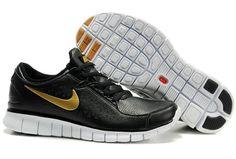 Hot Nike Free Run Men Black/Gold For Fashion