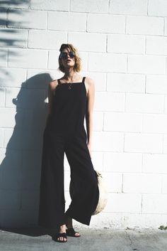 Summer Style lacausa-jumpsuit jumpsuit basket-bag quay-australia-sunglasses slides
