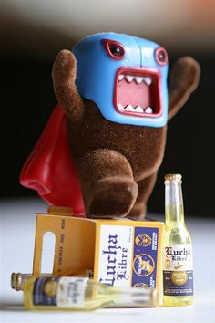 Lucha Libre Domo Kun - great use of miniature props in scale of the toy and working the Mexican theme