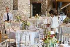 A Wilde Bunch design using a mix of antique and modern bottles log slices at Priston Mill, Tythe Barn. Natural, country flower designs work so well at this venue Wedding Events, Our Wedding, Tythe Barn, Log Slices, Stone Barns, Bristol, Flower Designs, Wedding Flowers, Floral Design