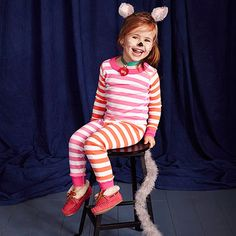 This #costume is the cat's pajamas! To create it, round up your child's pj's and a pair of slippers, then add a fuzzy tail and pair of ears.