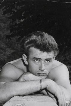 James Dean on the set of EAST OF EDEN (1955)