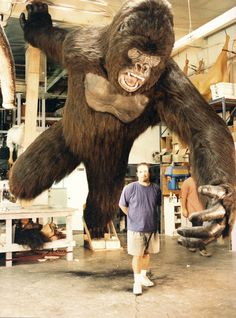 """Seventeen-Foot Gorilla created for """"Hollywood Casino"""" restaurant by Rick Lazzarini at The Character Shop. (There were actually TWO of them.)"""