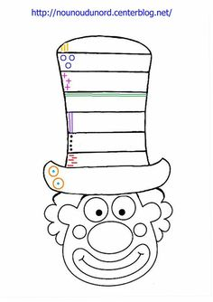 Das Journal of Chrys: Mein Projekt CIRCUS im Kindergarten - carnaval - Clown Crafts, Circus Crafts, Carnival Crafts, Circus Art, Circus Theme, Colouring Pages, Coloring Books, Preschool Circus, Theme Carnaval