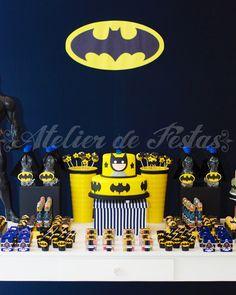 Decoração festa batman http://www.maternarparasempre.com.br/2015/07/festa-batman.html