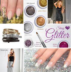#glitter  #shiny   #nails   #trend   Die Festtage sind gar nicht mehr so weit entfernt. Die perfekte Zeit, sich Gedanken über ein tolles Outfit zu machen. Wie wäre es zum Beispiel mit einem schönen Glitter-Look? Eure Juliane