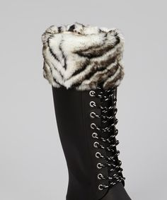 Look at this Chinese Laundry Crème Tiger Boot Liners on #zulily today!
