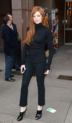 Red hot: Nicola Roberts turned out to support her pal and former bandmate at the event