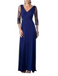 GEORGE BRIDE Chiffon Sheath/ Column V Neck Floor Length Evening Dress Size 16 Blue GEORGE BRIDE,http://www.amazon.com/dp/B0093XERZE/ref=cm_sw_r_pi_dp_oDEDrb49A033448B