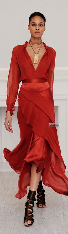 Juan Carlos Obando Fall 2013 Ready-to-Wear Fashion Show - Trendy Dresses Red Fashion, Look Fashion, Runway Fashion, High Fashion, Fashion Show, Womens Fashion, Fall Fashion, Latest Fashion, Fashion Trends