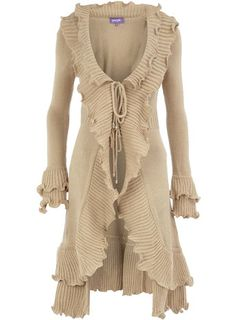 Love this - Would really like it in a deep red or purple.  Stone ruffle cardigan on sale for $44