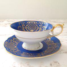 Vintage Royal Bayreuth Bavaria Tea Cup and Saucer Tea Party Hollywood Regency  - Ca. 1960's