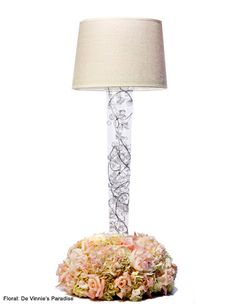 lamp centerpiece FLORAL BY DE VINNIE'S PARADISE*