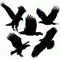 Silhouette Design Store: eagles set