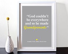 Grandparents Personalised Quotes Name Print