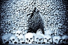 "Visit Prague's Sedlec Ossuary or, as many know it, ""the bone church.""  To think I was a bus ride away makes me sick."