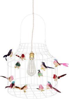 Hanglamp wit eettafel | kinderkamer |met vogeltjes nét echt!