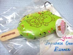 $200.00 FREE SHIPPING! Rilakkuma ICE CREAM green SQUISHY Rare! authentic Nic JAPAN