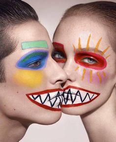 Ayami Nishimura vibrant costume face paint make-up Makeup Inspo, Makeup Inspiration, Beauty Makeup, Fun Makeup, Creative Photography, Fashion Photography, Photography Books, Piskel Art, Arte Peculiar