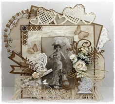 I love Vintage in Sepia colours so I have chosen to use the Sepia papers and elements from Paris Flea Market collection. The beautiful image is also from the same collection. I love vintage!Hope I have inspired you.Hugs Tracy xParis Flea Market Rose du jardin 6x6 - PD5804Paris Flea…