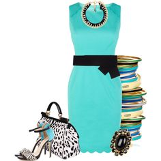 Tiffany Blue, created by hope-houston on Polyvore