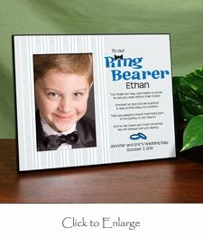 Personalized frame for ring bearer, flower girl, and wedding party. LIke the idea, not the poem.