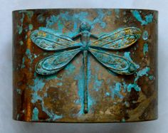 Hey, I found this really awesome Etsy listing at https://www.etsy.com/listing/88957046/dragonfly-patina-brass-cuff-bracelet