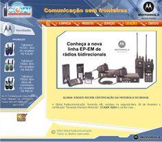 Site Global comunicações | 2008