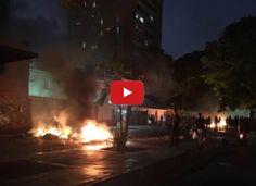 Noche de represión y protestas en El Paraíso