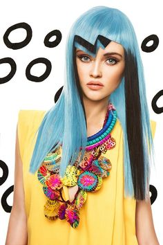 Color Blaze by Marta Macha for Hair Trendy Magazine - Beauty Scene Vivid Hair Color, Latest Hair Trends, Crazy Hair Days, Sassy Hair, Hair Magazine, Hair Reference, Coloured Hair, Cute Cuts, Hair Designs