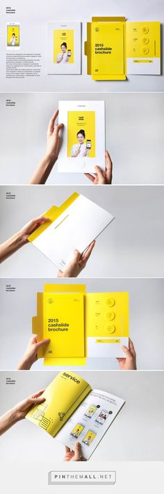 2015 cashslide brochure by bory kim - Graphic Templates Search Engine Layout Design, Web Design, Print Layout, Design Brochure, Creative Brochure, Brochure Layout, Brochure Ideas, Editorial Layout, Editorial Design