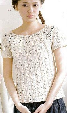 Knitting openwork sweaters spokes