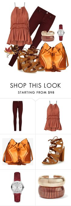 """""""Autumn colors #3"""" by cherryoblossom ❤ liked on Polyvore featuring Paige Denim, Cinq à Sept, French Connection, Lipsy, Burberry, Rosantica and Anne Klein"""