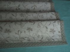 Organic linen table runner in gray and light gray by IrenGarden, $28.00