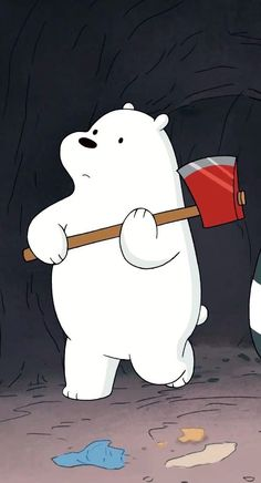 Ice bear♡ in We Bare Bears° Polar Bear On Ice, Polar Bear Cartoon, Ice Bear We Bare Bears, We Bear, Polar Bears, Bear Wallpaper, Kawaii Wallpaper, Cute Wallpaper Backgrounds, Cute Cartoon Wallpapers