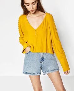 BUTTONED TOP-TOPS-TRF   ZARA United States