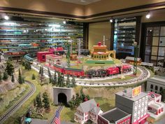 Visit to MTH Showroom/HQ Today | O Gauge Railroading On Line Forum Model Trains, Toy Trains, Third Rail, Rhyme And Reason, Model Train Layouts, Above And Beyond, Display Case, Showroom, Tin Toys