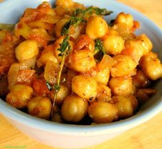 Fried Channa - So simple yet so good.  Can be eaten on its own or used as a side dish.  Excellent flavour.  Added extra Garam Masala cause I just love the flavour :)
