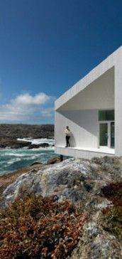 The Fogo Island Inn, near Newfoundland.  It's a B&B with a big library, lots of reading nooks, and places for sketching/drawing.