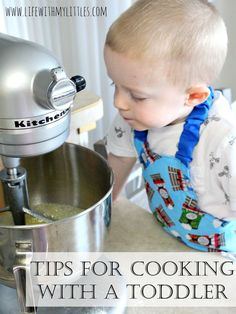 Tips for cooking with a toddler. How to cook with a toddler to make it fun, easy, and safe for both of you! Cooking With Toddlers, Cooking Games For Kids, Kids Cooking Recipes, Kids Meals, Cooking Corn, Children Cooking, Cooking Pork Roast, Cooking Whole Chicken, Cooking Beets