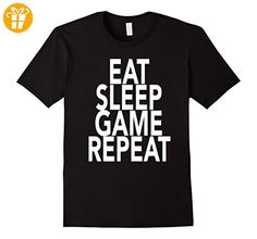 Eat Sleep Game Repeat T-Shirt Gift For Gamer Gaming Lover Herren, Größe 3XL Schwarz (*Partner-Link)