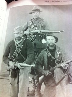 A picture of the Boers with their mausers