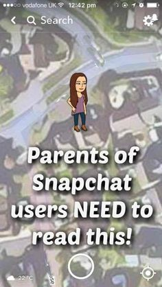 Parents of Snapchat Users NEED to read this.... The new Snapmap feature automtically shares your location with others unless you switch it off.