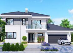 Modern Bungalow House Design, Minimal House Design, Modern Exterior House Designs, Two Story House Design, 2 Storey House Design, Small Contemporary House Plans, Modern House Plans, House Outside Design, House Front Design