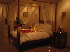 66 best wedding bed decoration images bed canopy with lights rh pinterest com