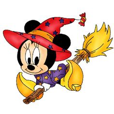 HALLOWEEN MINNIE MOUSE WITCH CLIPART