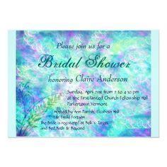 Aqua Spring Bridal Shower Invitation
