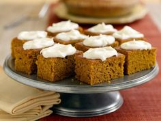 Get Pumpkin Bars Recipe from Food Network